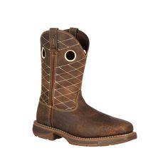 Workin' Rebel by Durango Mens Brown Leather 11in Steel Toe Cowboy Boots