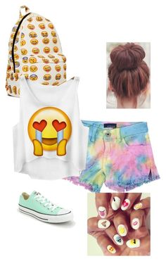 Emoji Outfit by taytay-r on Polyvore featuring polyvore, fashion, style, Butter and Converse