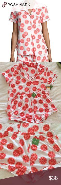Kate Spade Grapefruit Shorty Pajama Set, Small Brand new Kate Spade pajama set, make an offer! kate spade Intimates & Sleepwear Pajamas