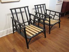 Ficks Reed Furniture   Pair Of Ficks Reed Bamboo Lounge Chairs At 1stdibs