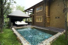 small plunge pool - dreamy with chill our pagoda
