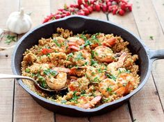 One Pan Garlic Shrimp with Quinoa | HealthShoot