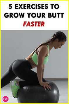 5 Moves To Grow Your Butt Faster Minute Workout) - Real Time - Diet, Exercise, Fitness, Finance You for Healthy articles ideas Lady Fitness, Fitness Tips, Fitness Motivation, Excercise, Glutes, Workout Videos, Butt Workouts, Health, Effort