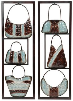 Purse Collection Metal Wall Art