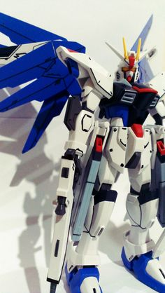 Freedom Gundam, in action