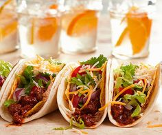 irresistible mexican food ~ Mega Beef Tacos with Soft & Crunchy Shells