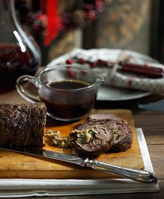 Christmas Cooking, Main Dishes, Steak, Wedding Cakes, Food Porn, Food And Drink, Cooking Recipes, Buffet Ideas, Kitchen