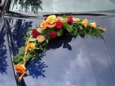 Wedding Flowers Archives - Page 2 of 163 - The Wedding Specialists Wedding Flower Arrangements, Wedding Flowers, Bridal Car, Wedding Car Decorations, Wedding Transportation, Red Wedding, Wedding Cars, Just Married, Floral Wreath