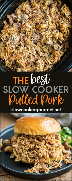 Everyone is sure to love this amazing slow cooker pulled pork! The perfect blend of spices make it tender and bursting with flavor!