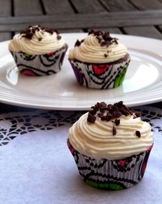 Z ghetta blog: Krémy na cupcakes Brownie Cupcakes, Cheesecake Cupcakes, Sweet Cupcakes, Cheesecake Brownies, Mini Cupcakes, Cap Cake, Cupcake Images, Cute Cakes, Nutella