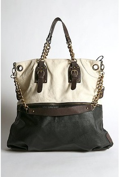 Urban Outfitters Deena & Ozzy Chain Tote. This thing is huge (or the model was super-tiny!)