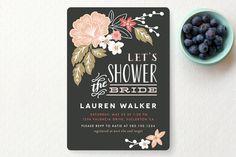Invito Lavagna floreale - Bridal Shower