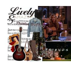 """""""Lively & Amazing: Phoebe Buffay"""" by listening-2-lovesongs on Polyvore"""