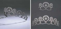 Cartier Belle Époque Garland Style Diamond Tiara and Stomacher, circa 1908.   Photo Courtesy of Christie's.