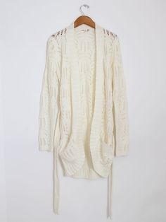 woven knit cardigan