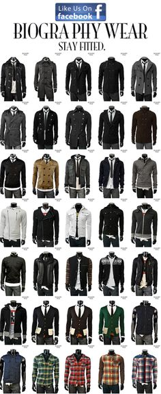 Fitted Men's Garments for the modern man.   Attractive clothes are attractive.