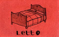 Learning Italian Language ~  Letto (bed) IFHN