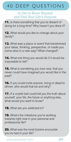 Better questions lead to better answers. Better answers lead to better actions. Here's a comprehensive list of deep questions to ask yourself. Quotes Dream, Life Quotes Love, Getting To Know Someone, Get To Know Me, Getting To Know Yourself, Deep Questions To Ask, This Or That Questions, Questions To Get To Know Someone, Questions About Life