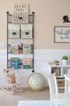 Little Vintage Nest | Modern Farmhouse Playroom Makeover. Adorable farmhouse style decor in kid's playroom.