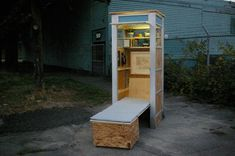 Half-baked Dish: Re-purposed Telephone Booths