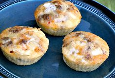 Mini Sausage and Mushroom Omelette Muffins from Once a Month Mom | OAMC from Once A Month Meals