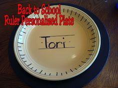 Kims Kandy Kreations: Back to School Personalized Plates