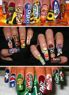 Crazy Finger Nail Art