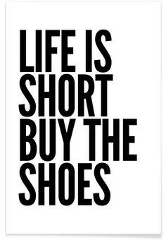 shoes en Affiche premium par Mottos by Sinan Saydik | JUNIQE