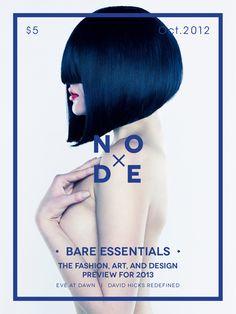 Node | Magazine Cover by Abby Chen, via Behance
