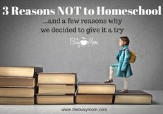 3 Reasons NOT to Homeschool … and A Few Reasons Why We Decided to Give It a Try   Author and Speaker, Heidi St. John