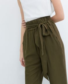 ZARA - NEW THIS WEEK - TROUSERS WITH BELT
