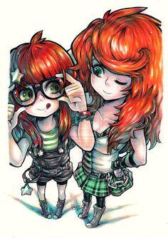 Sisters by *Pyromaniac