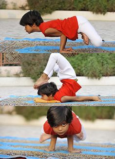 World's youngest yoga instructor.  Shruti Pandey — 6 year old