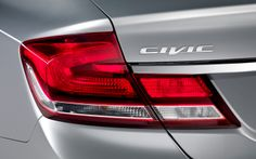 Striking new taillights blend seamlessly with the Civic's contoured shape.