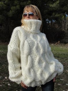 ORDER wool sweater hand knitted wool jumper handmade wool pullover chunky sweater thick pullover tneck jumper cable sweater UNISEX Dukyana by Dukyana on Etsy https://www.etsy.com/uk/listing/221941242/order-wool-sweater-hand-knitted-wool