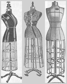 Antique Graphics Wednesday - 3 Dress Form Images - Knick of Time