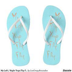 My Left / Right Yoga Flip Flop Flip Flops