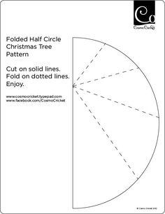 How to Fold Christmas Trees from Half Circles - Cosmo Cricket