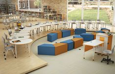 Classrooms everywhere are changing into environments that are easy to configure. A combination of our Crossfit student desk and our Blender soft seating can take any classroom to the next level. Outdoor Classroom, Classroom Table, Popup, Pop Up Karten, School Building Design, Student Desks, School Furniture, Soft Seating, Classroom Design