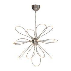 ONSJÖ LED takkrona IKEA Ljusslingorna med LED skapar spännande ljuseffekter och liknar eldflugornas väg i luften.