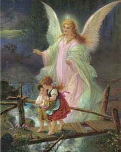 Angels........          this print was in my family home many years ago.