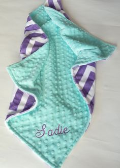 Hey, I found this really awesome Etsy listing at https://www.etsy.com/listing/207215681/personalized-baby-blanket-or-lovey-baby