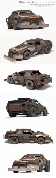 Post Apocalyptic Vehicle Madness – 1/24th Monogram Nascar Buick carwars conversion http://houseofqueeg.wordpress.com/category/post-apocalypse-car-wars-mad-max-and-more/: