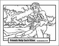 friends help each other the good samaritan