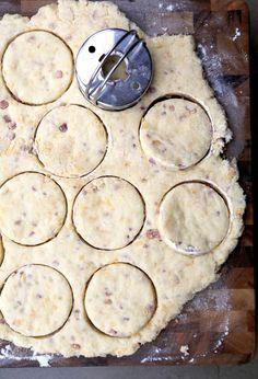Pancetta & Aged Gouda Buttermilk Biscuits (via love+cupcakes)