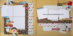 Simple Stories Snap layout (Large) Paisleysandpolkadots  she is so good!