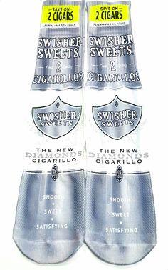 Diamond Swisher Sweets Socks Adult unisex one size fits most http://www.getnitinco.com/#!product/prd1/4485119891/diamond-socks