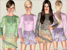 sims2fanbg's 378 - Floral dress