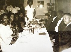"The origins of the Saturday night dinner party. #blacksouthernbelle  Image by @dwellbycheryl  February is one of my favorite months love and a little nip in the air topped off with a celebration of my #history. I've always loved this photo of my grandparents (second couple from front) and their friends. This photo from the early 60s was taken at Mississippi Power's separate but ""equal"" employee appreciation dinner.  My Granddaddy was one of the first black associates at their Gulf Coast…"
