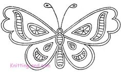 Simple cutwork butterfly embroidery